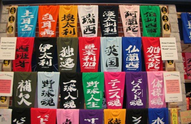 Como era grafado o nome do seu País  em Kanji