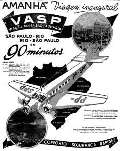 Marketing-Vasp-sobre-o-1°-voo-São-Paulo-Rio