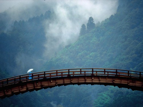 Ponte Kintaikyo em Iwakuni (Yamaguchi)